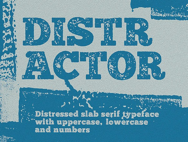 Distractor free typeface