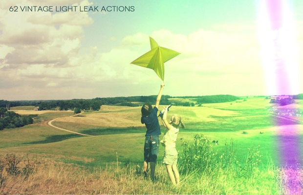 Vintage Light Leak Actions