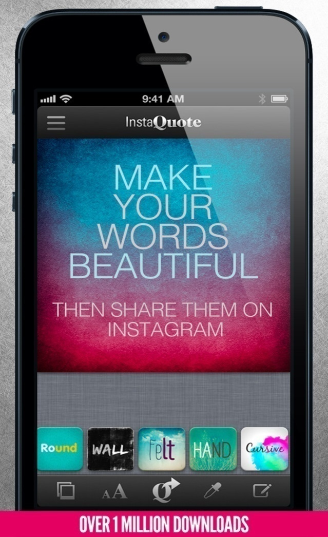 InstaQuote - add text to photos and pictures for Instagram