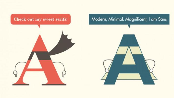 Serif vs. Sans: The Final Battle - Infographic