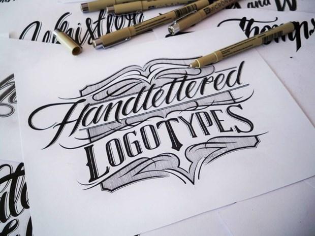 Impressive Hand lettering Logo Design