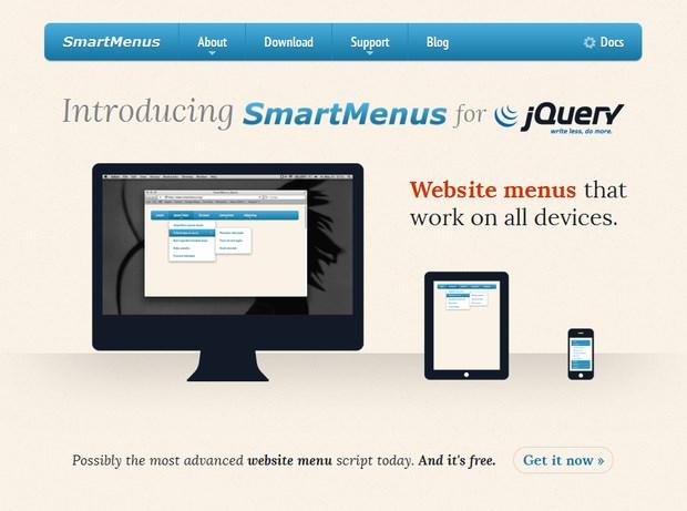 website menu jQuery Plugin