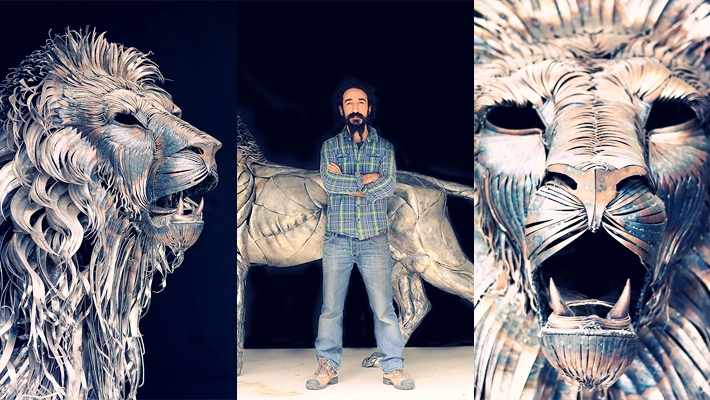 Aslan the Lion Metal Sculpture by Selçuk Yılmaz