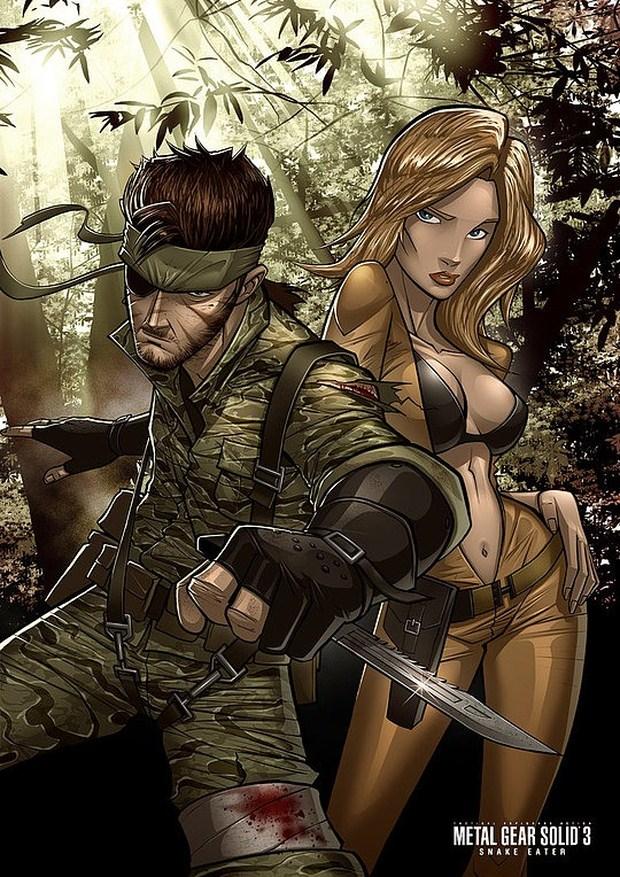 Snake Eater Comic Illustration