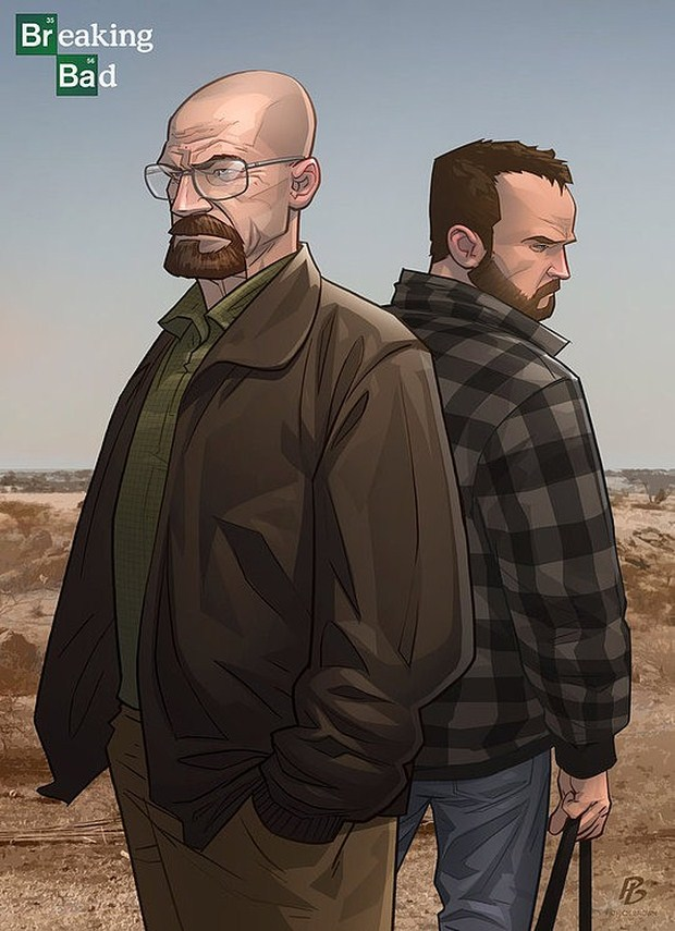 Breaking Bad Comic-Illustration