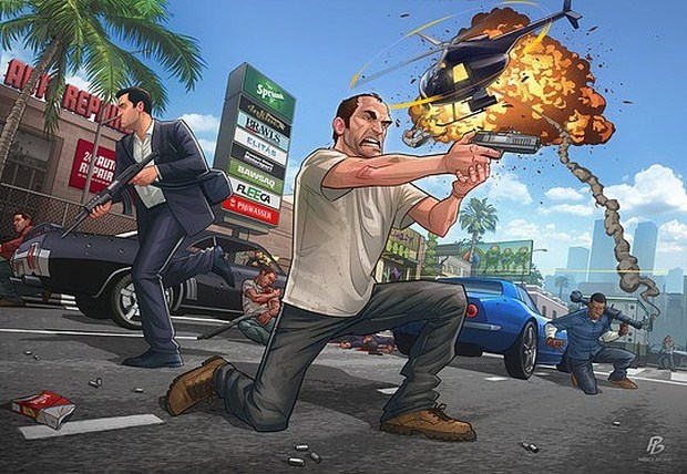 GTA V - Launch piece-by-Patrick-Brown