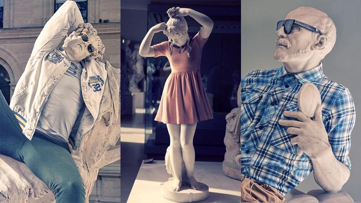 Classical Sculptures Dressed Leo Caillard