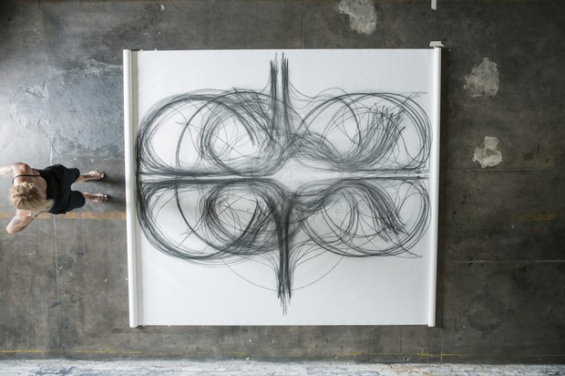 Creating Charcoal Drawing by Heather Hansen
