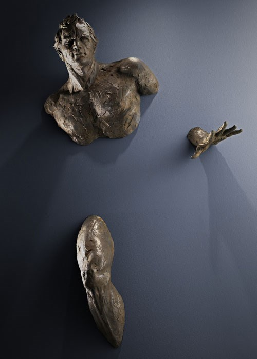 Sculptures Emerge from Walls003