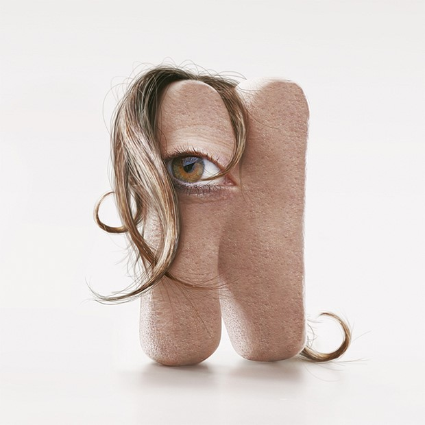 Stunning-Typography-with-Human-Skin-by-JC Debroize