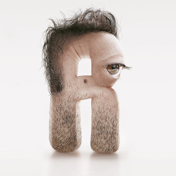 Stunning Typography with Human Skin