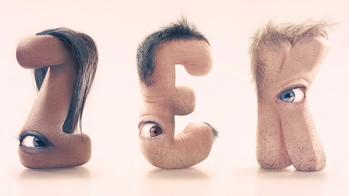 Stunning Typography with Human Skin by JC Debroize