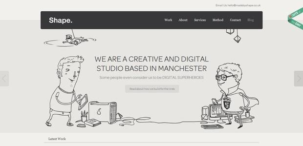 Website Design Manchester - Shape