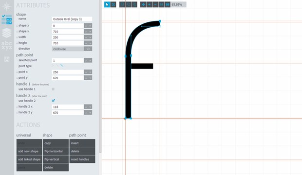 Glyphr Studio, the free HTML5 based font editor