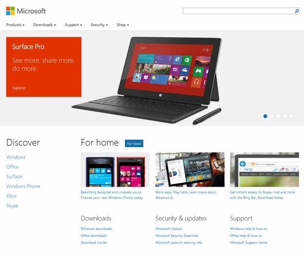 Microsoft-Flat-Web-Design