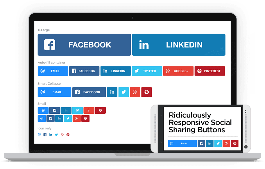 Responsive Social Sharing Buttons