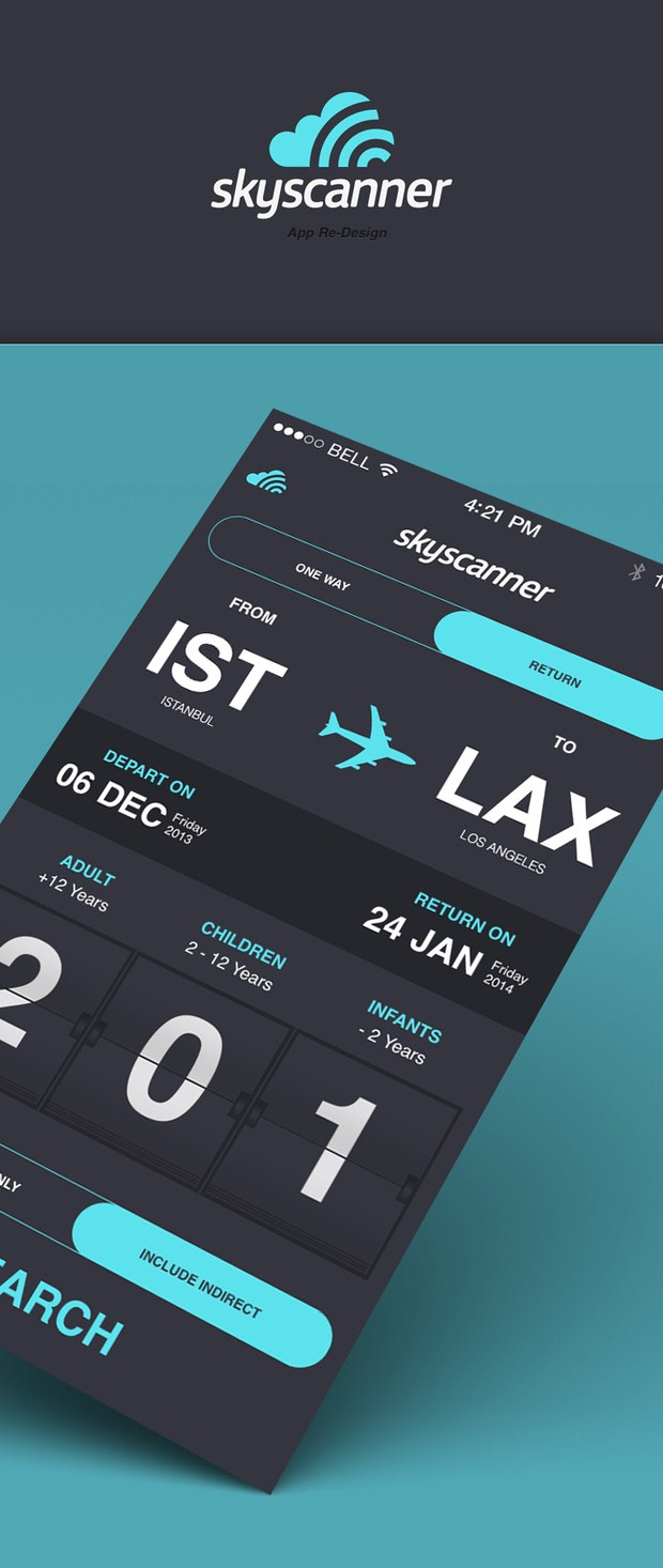 01-skyscanner iOS 7 App Design