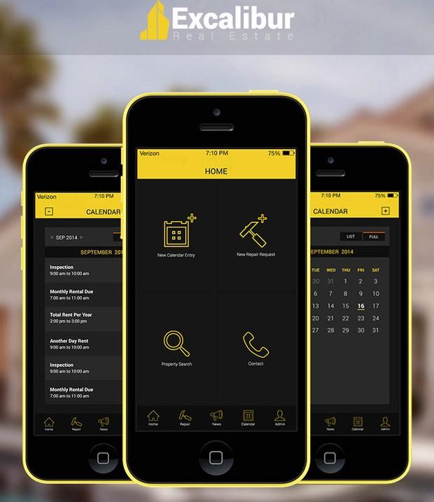 06-Excalibur iOS 7 App Design