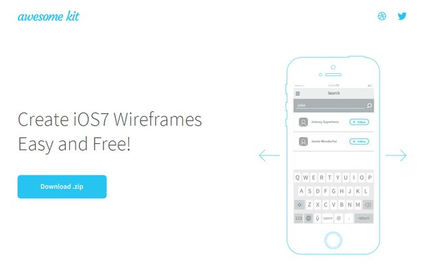Create iOS7 Wireframes Easy and Free