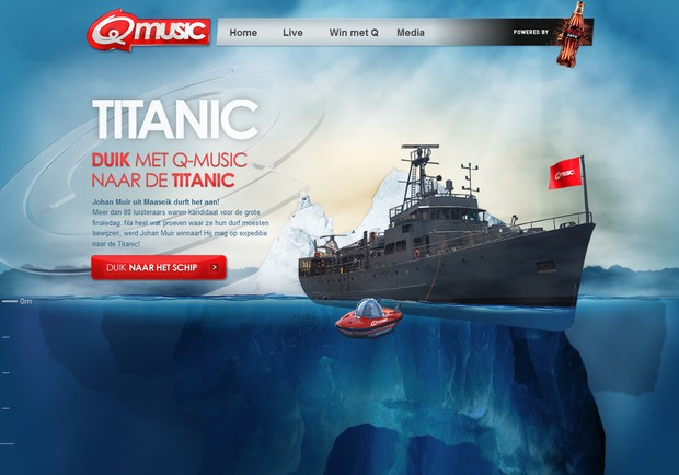 Q music-Titanic-Code-Free-Parallax-Scrolling-Animator-by-Webydo