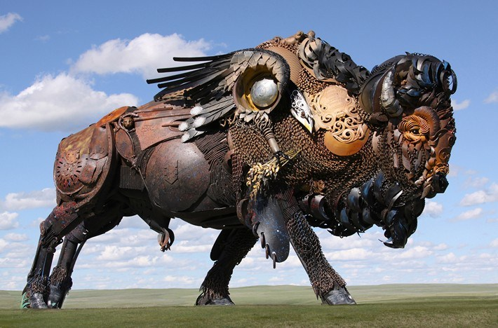 01-Amazing-Metal-Animal-Sculptures-of-John-Lopez