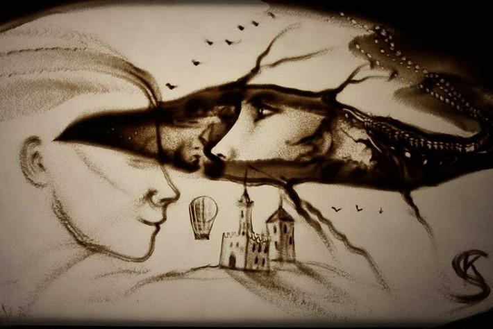 Sand art by kseniya simonova, sand art, sand art video, Ukraine's got talent, creative work, kseniya,