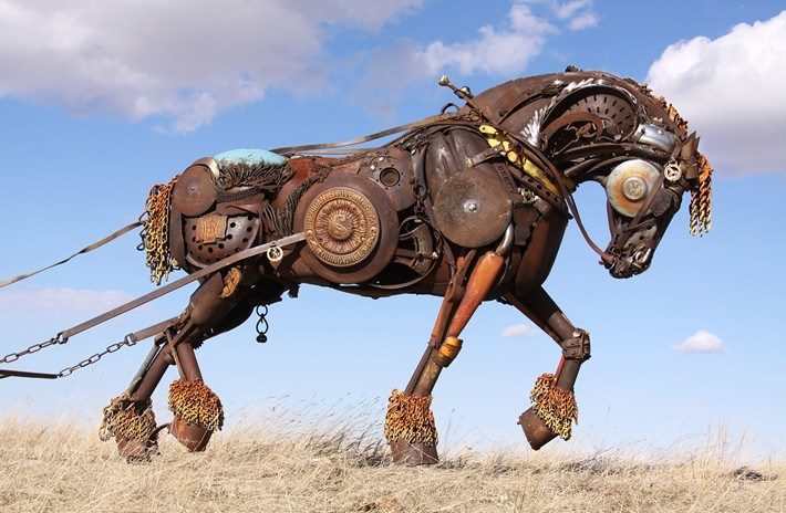 011-Amazing-Metal-Animal-Sculptures-of-John-Lopez