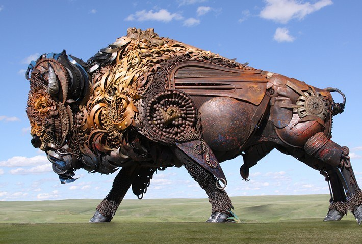 02-Amazing-Metal-Animal-Sculptures-of-John-Lopez