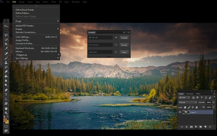 Griddify - Photoshop Panel to Make Grids