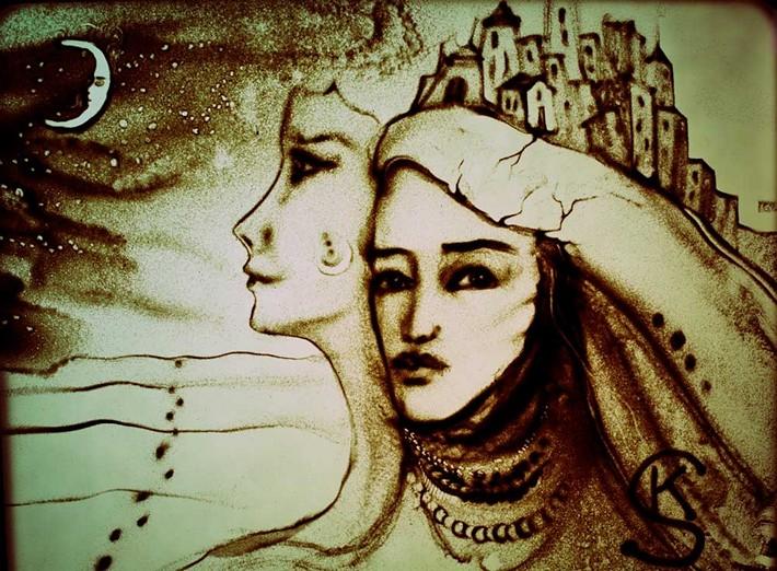 Creative Sand Art by Kseniya Simonova