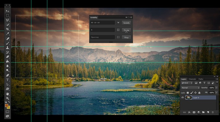 Griddify - A Small Photoshop Panel to Make Grids