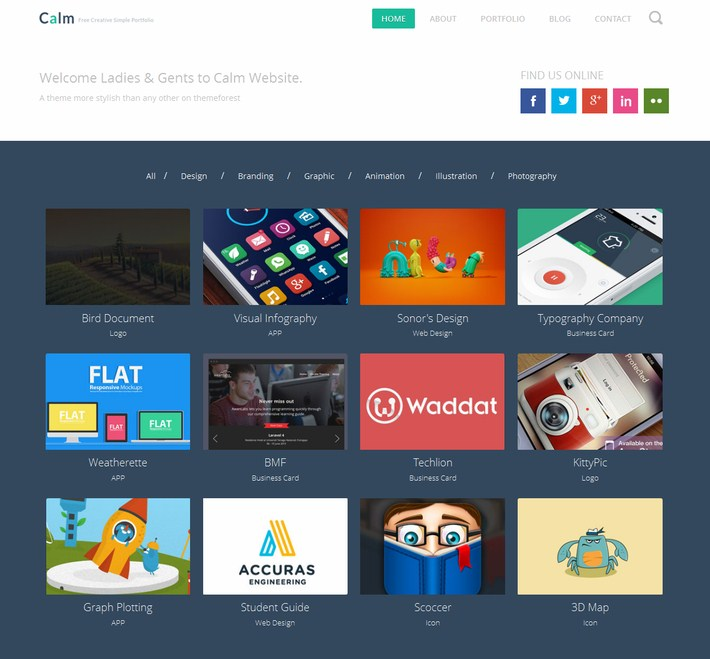 The Calm Website Template