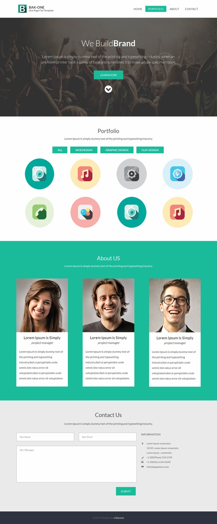 The Bak-one Free HTML5 CSS3 Responsive Templates
