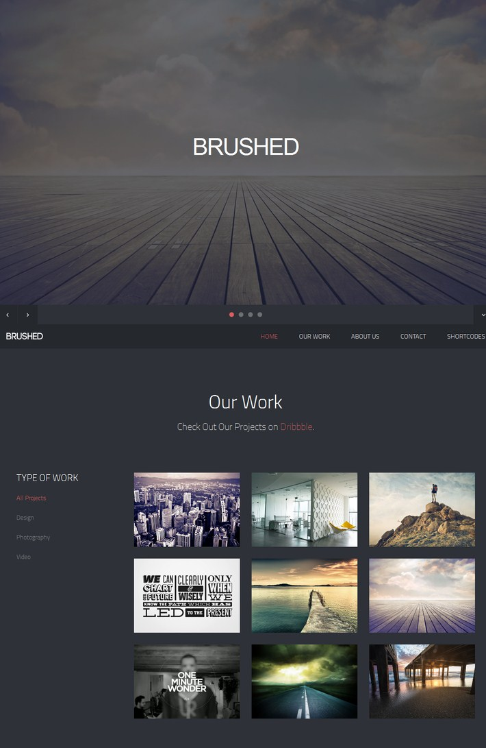 Brushed-Responsive One Page Template 2014