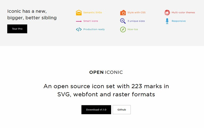 Open Iconic, a free and open icon set