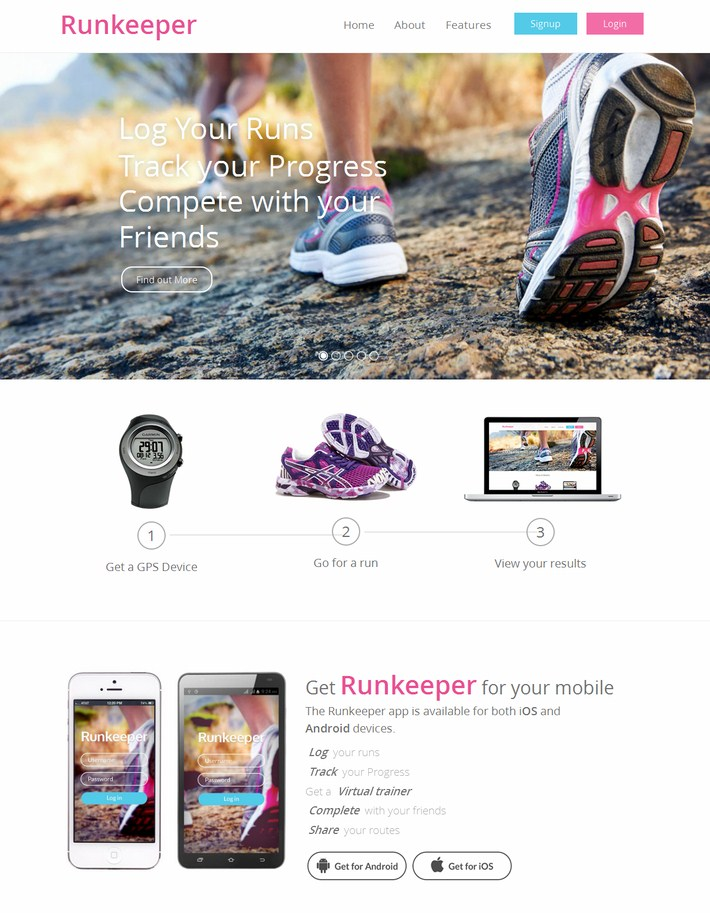 Runkeeper Website Template