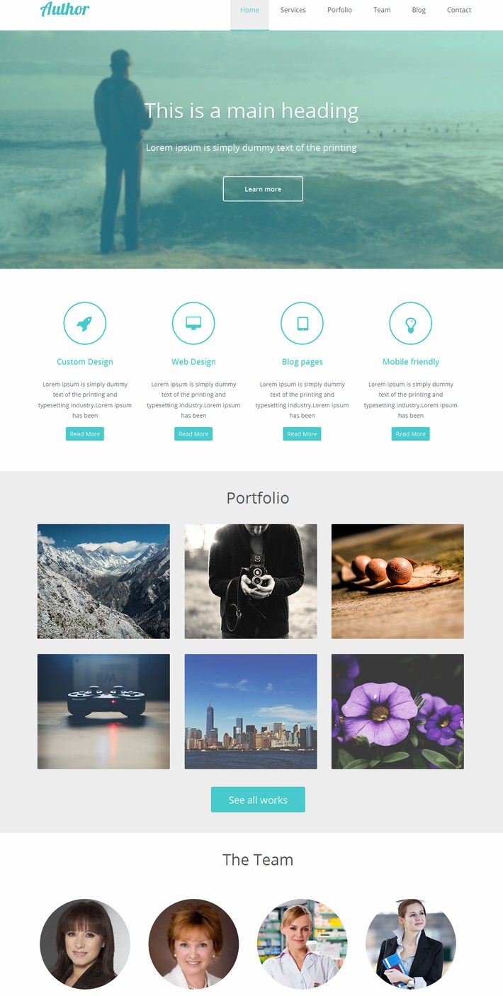 The Agency-author Website Template