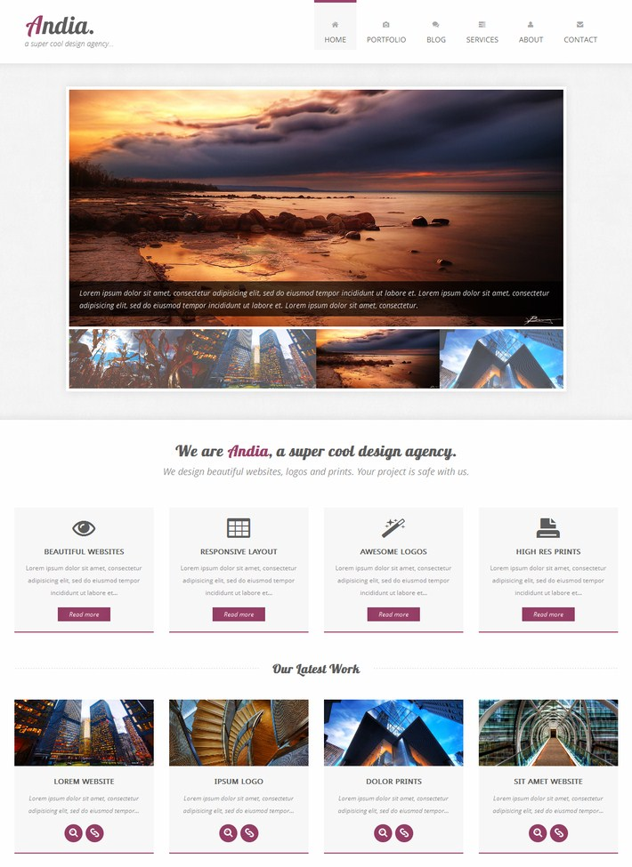 Andia-Responsive Agency Template