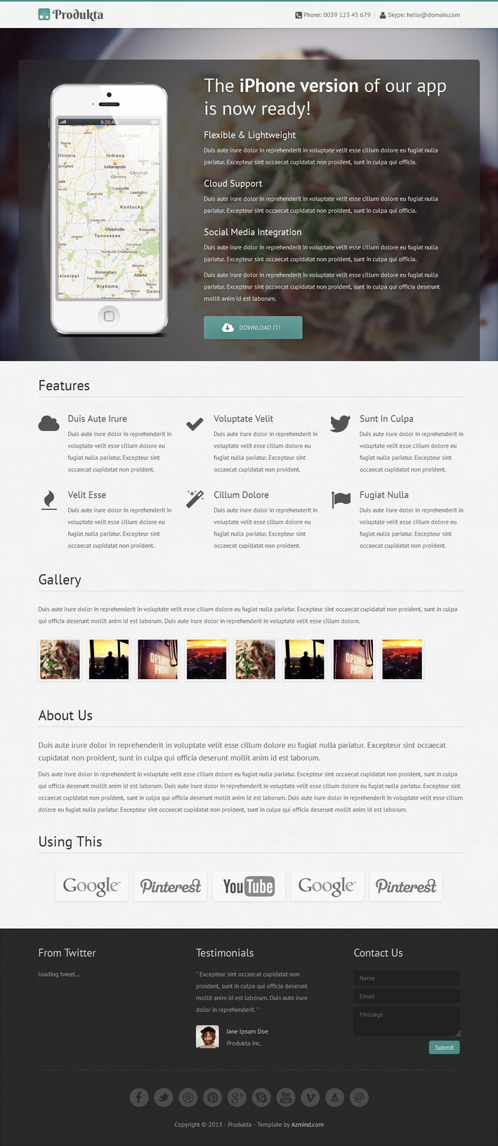 Produkta-Responsive Product Showcase Theme