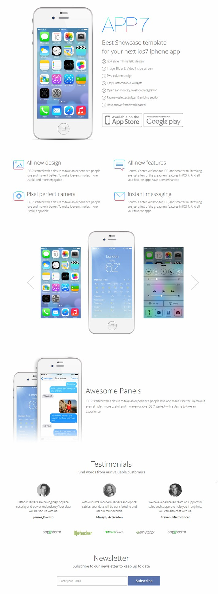 App7 Website Template