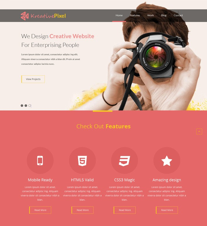 KreativePixel Website Template