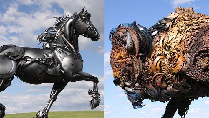 Amazing Metal Animal Sculptures of John Lopez