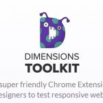 Check Responsive Websites with Dimensions Toolkit