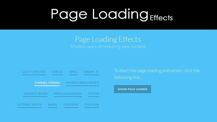 Creative Page Loading Effects