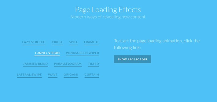 Page Loading Effects