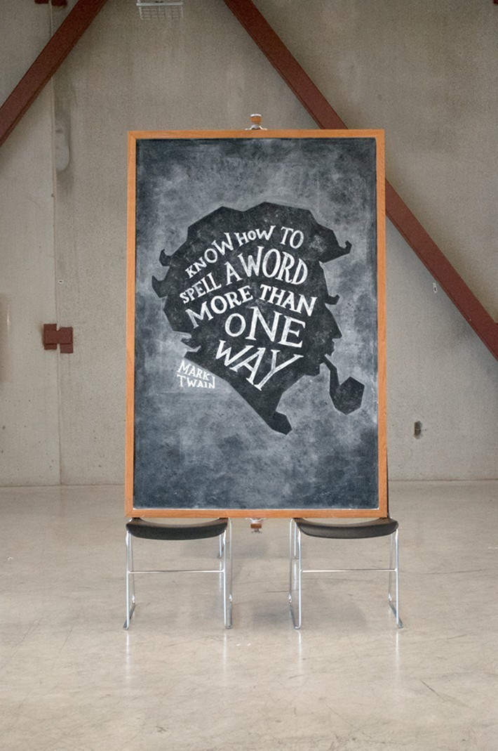 Dangerdust Illustrate Quotes with Wonderful Chalkboard Art