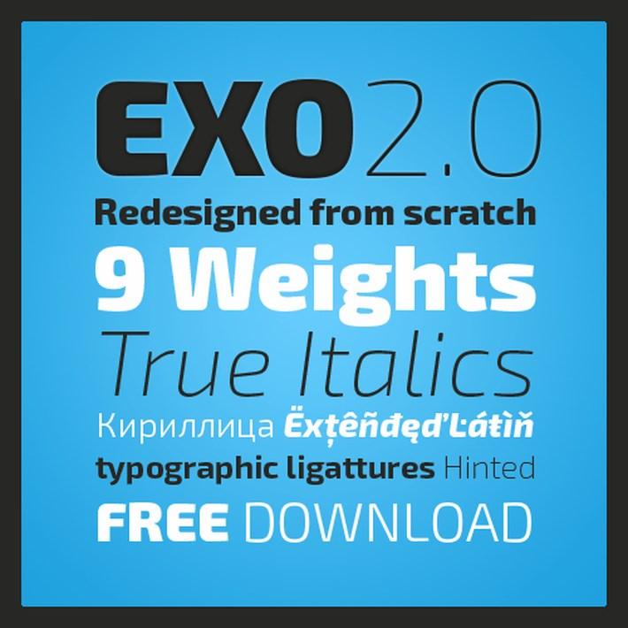 best free fonts 2014 - Exo 2.0 Geometric Sans Serif Font