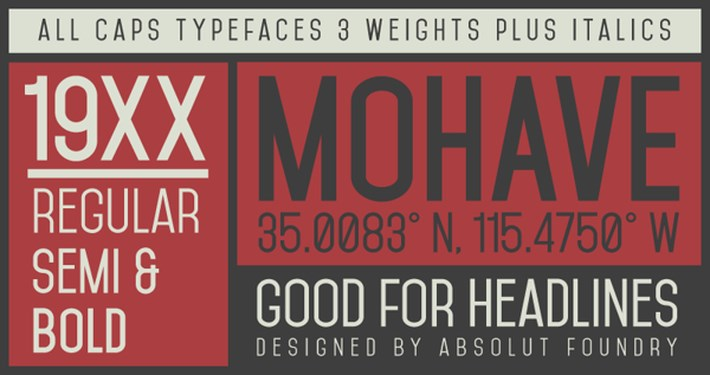 best free fonts 2014 - Mohave Typefaces free font