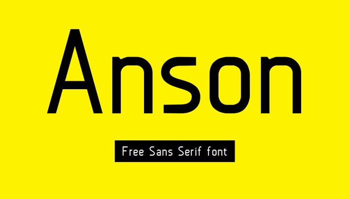 best free fonts 2014 - Anson free sans serif font
