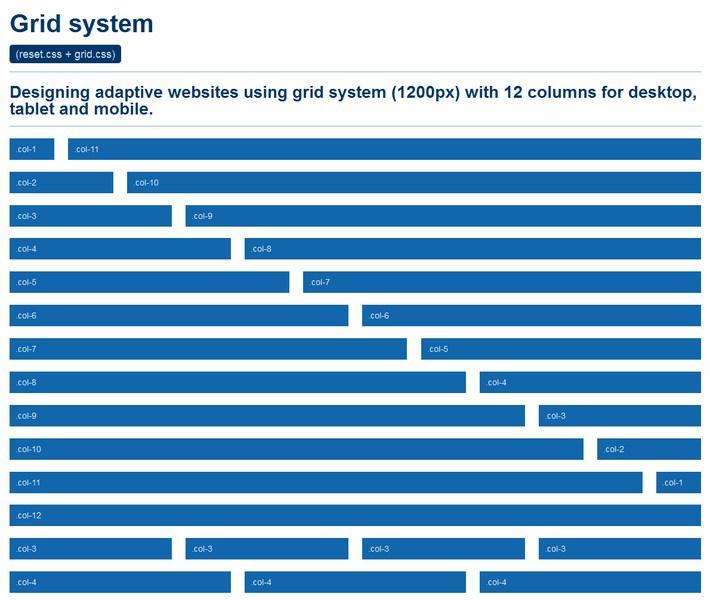 Grid system - CSSHorus